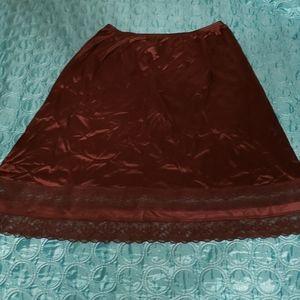 HTF Vintage Vanity Fair Silky Gothic Skirt